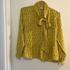 Long sleeve tie neck Loft blouse